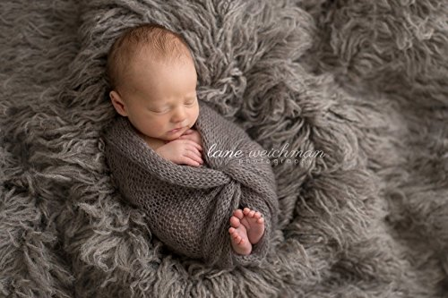 Nest Baby Shop - FOR YOUR ROYAL PHOTOSESSION Grey Oyster Alpaca Faux Fur Photo Prop Newborn Nest 18 x 20 Inches Photography || Decoration for a photo shoot by Royal ♛ Shop
