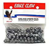 Wright & McGill Eagle Claw Removable Split Shot King Pack, 90 Piece (Plain, Size-2)