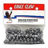 Eagle Claw Removable Split Shot King Pack, 270-Piece, Plain, Size-7