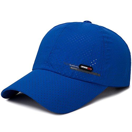 Home Prefer Men's Lightweight Mesh Golf Sport Hat Adjustable Baseball Hat Race Day Running Cap Royal ()