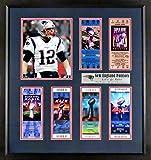 """New England Patriots""""6x Super Bowl Champions"""" Tickets Display (Feat. SB LIII Tom Brady) Framed"""