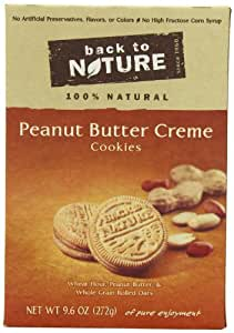 Back To Nature Non GMO, Peanut Butter Creme Cookies, 9.6 ounce (Pack of 6)