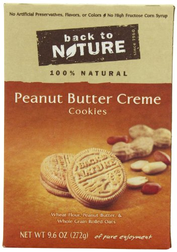 Back To Nature Non GMO, Peanut Butter Creme Cookies, 9.6 ounce (Pack of (Choc Chip Crisp)