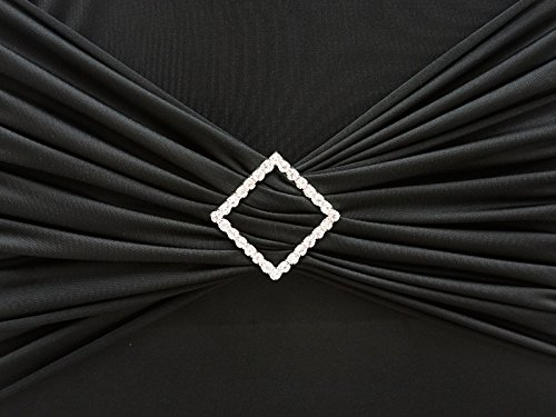 BalsaCircle 10 Silver Diamond Rhinestones Chair Sashes Buckles Pin - Wedding Party Ceremony Reception Decorations Supplies Wholesale ()