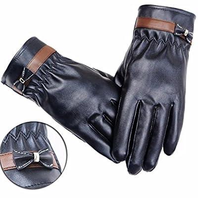 Susenstone Women Leather Winter Warm Gloves Mitten