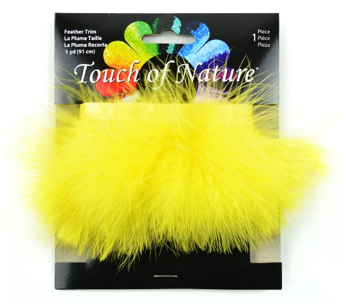 Touch of Nature 40507 Fluffy Trim 36-Inch, Yellow