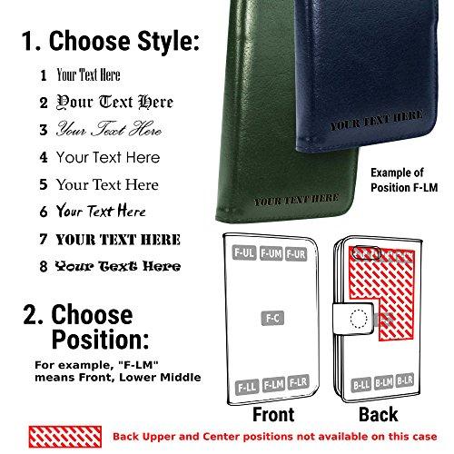 Tuff-Luv Personalisierte Vintage Ledertasche für Apple iPhone 7 (inkl. Displayschutz) - Geldbörse Stil - Grün