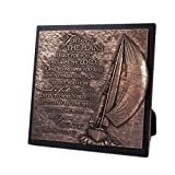 Lighthouse Christian Products Moments of Faith Sailboat Journey Sculpture Plaque, 8 3/4 x 8 3/4'' by Lighthouse Christian Products