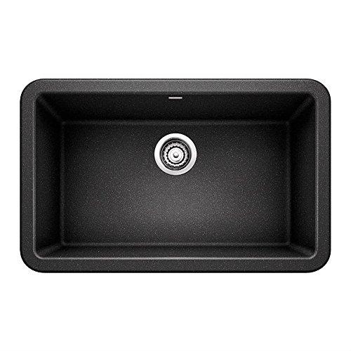 - Blanco 401732 Ikon Granite 0-Hole Undermount Apron Front/Farmhouse Single Bowl Kitchen Sink, 30