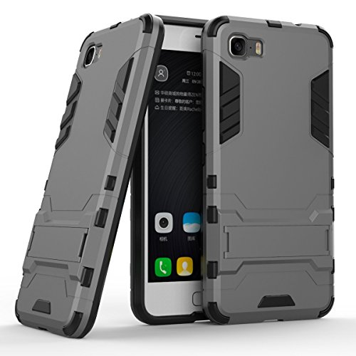 TPU/PC Shockproof Cover Case For Zenfone Max (Grey) - 6
