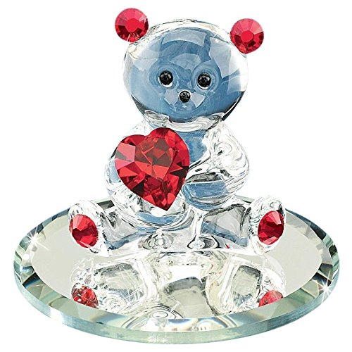 - Glass Baron ~ Bear holding a Red Crystal Heart