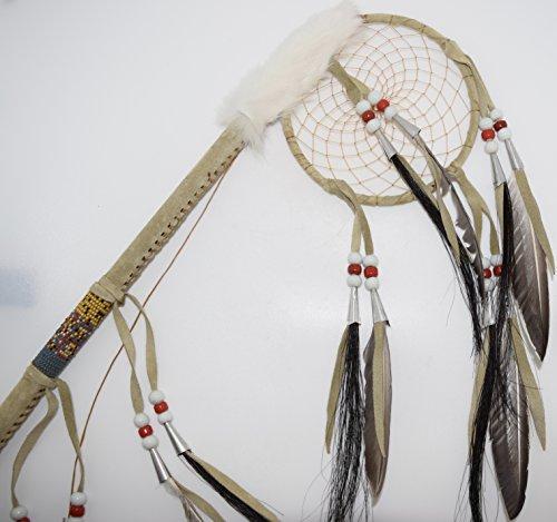 Genuine Handmade Beaded Dreamcatcher Dance Stick Wall Hanging by Kachina Country USA (Image #2)