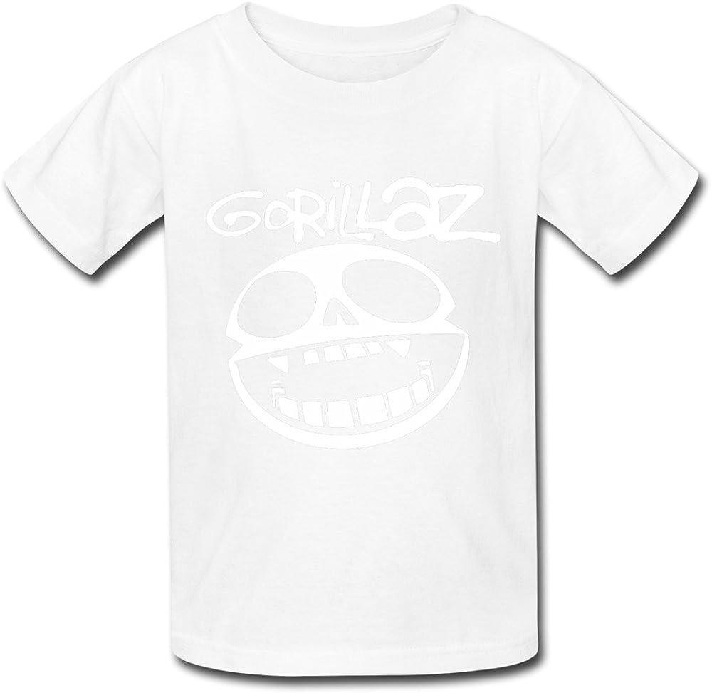 Go-rill-az Skull Logo Kids T-Shirts Short Sleeve Tees Summer Tops for Youth//Boys//Girls