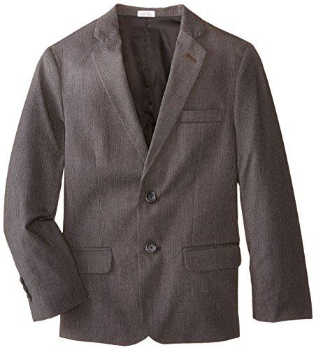(Calvin Klein Big Boys' Luster Cord Jacket, Dark Grey, 16)