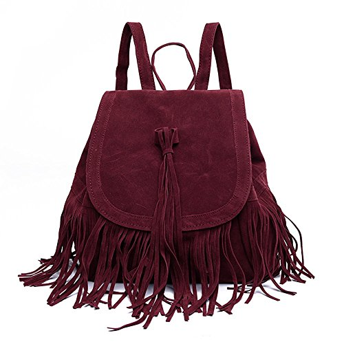 LUI SUI- Valentine's Day Gift Women's Fringed Backpack Tassel Shoulder Bag by LUI SUI (Image #1)