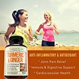 Turmeric Curcumin with Ginger & Bioperine - Best Vegan Joint Pain Relief, Anti-Inflammatory, Antioxidant & Anti-Aging Supplement with 10mg of Black Pepper for Better Absorption. 100% Natural Non-GMO - 51UcFkwa6DL - Turmeric Curcumin with Ginger & Bioperine – Best Vegan Joint Pain Relief, Anti-Inflammatory, Antioxidant & Anti-Aging Supplement with 10mg of Black Pepper for Better Absorption. 100% Natural Non-GMO