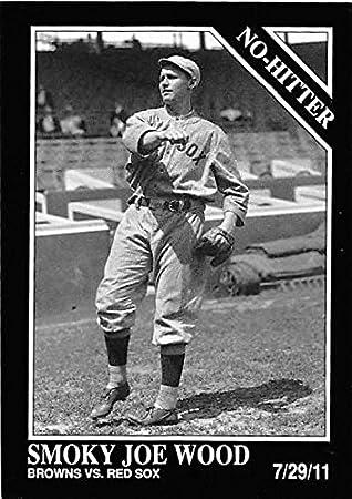 Smoky Joe Wood Baseball Card Boston Red Sox No Hitter 7 29