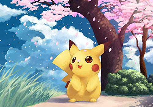 (MR. XIAOLONG DIY 5D Diamond Painting Kits Kits for Adults,Pokemon Pikachu Full Drill Embroidery Paint with Diamond for Home Wall Decor(20x14inch- -23)