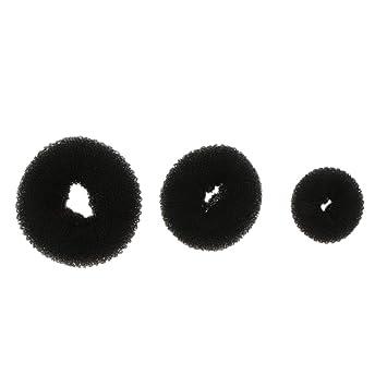 Baoblaze Molde para Donuts con Bollo de Pelo Anillos para Moño Accesorios para Cabellos - Negro, como se Describe: Amazon.es: Hogar