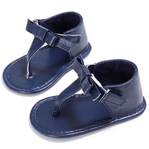 Zapatos de bebé, Switchali Niñito Niña Cuna Zapatos Recién nacido bebe FlorSuela blanda Antideslizante Bebé Zapatillasverano Sandalias nuevo barato gran venta Azul