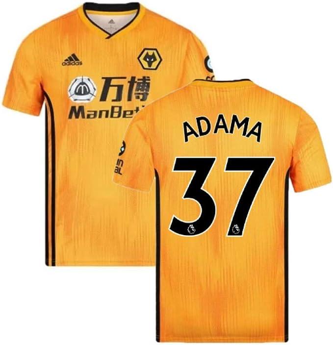 2019-2020 Wolves Home Football Soccer T-Shirt Camiseta (Adama ...