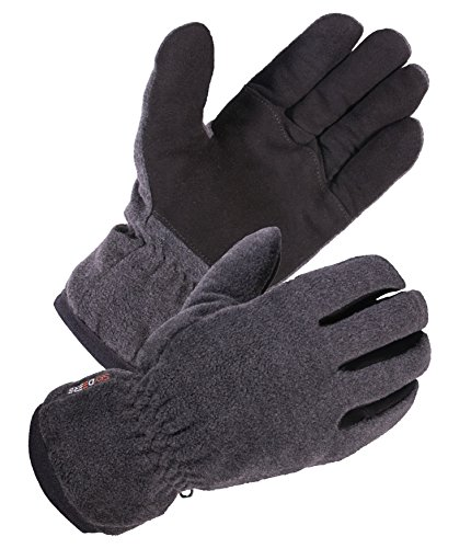 SKYDEERE Winter Work Gloves - Warm Deerskin, Windproof Wool Winter Outdoor Casual and Work Glove for Party, Ski, Running, Driving, Motorcycle and More (Gray Extra Large) (Plastic Mens Glove)