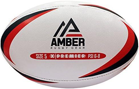 Nino Cerruti Ámbar x-Premier Pelota de Rugby, Color Blanco, tamaño ...