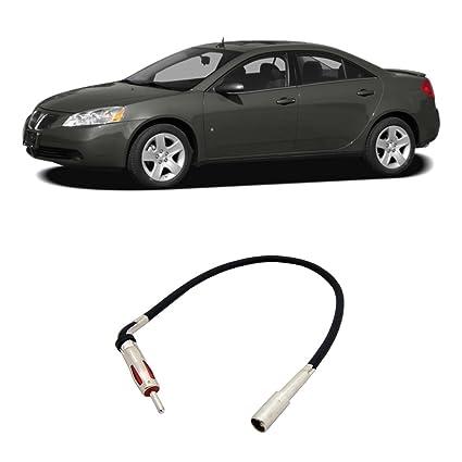 amazon com: fits pontiac g6 2005-2008 factory stereo to aftermarket radio  antenna adapter plug: car electronics