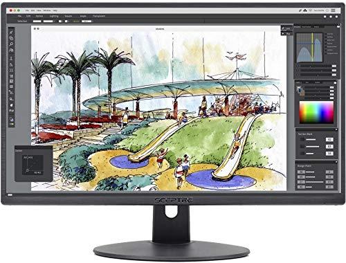 Sceptre E249W-19203R 24-inch FHD LED Gaming Monitor 2X HDMI VGA 75Hz Build-in Speakers, Machine Black