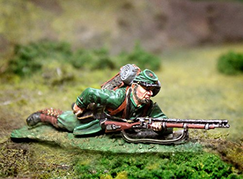 Civil War Toy Soldiers Union Berdan's Sharpshooters Infantry, Prone Re-Loading Figure Collectors Showcase Toy Soldiers Painted Metal Figure 54mm-56mm CS00788 Britains Type