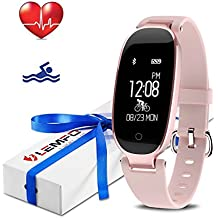 LEMFO Fitness Tracker Heart Rate Monitor Women Swimming Waterproof Activity Tracker Smartband Sleep Monitor Pedometer Smart Bracelet Wristband
