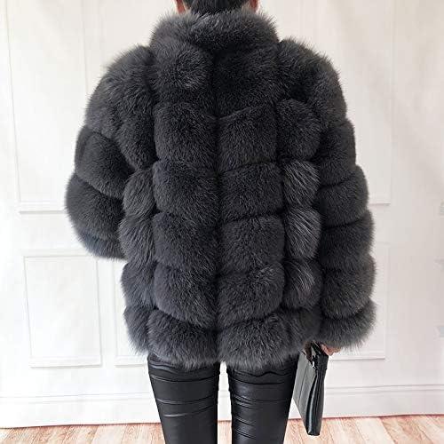 SHOUBANG Coat Women'S 100% Real Coat Natural Leather Vest Leather Jacket Leather Coat Stand Collar Long Sleeve Leather Coat Blue-XXXL