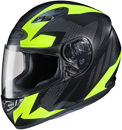 HJC CS-R3 Full Face Motorcycle Helmet Treague Graphic Flat Hi Vis YellowMC-3 (XXL)