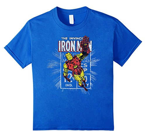 Marvel+Comics+Retro+Shirt Products : Iron Man Retro Comic Book Stamp Flying Pose Graphic T-Shirt