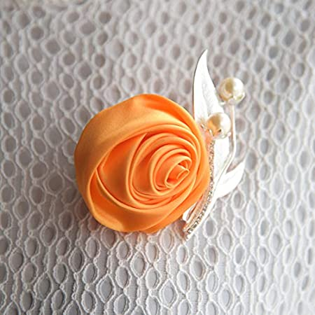 Sposa Sposa 10 * 10CM Feste Beige Mackur Boutonniere per Matrimonio Fiore Banchetti Boutonniere per Matrimoni Accessori 1 Pezzo Satin 10 x 10 cm Seta Fiori