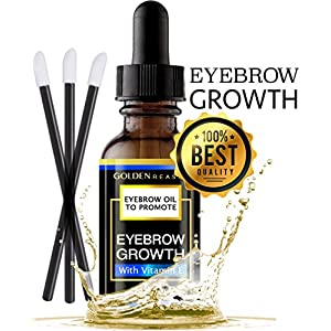 Premium Eyebrow Growth Serum. Advanced Natural Eyebrow Growth Enhancer Oil With Vitamin E. For Women and Men. Made in USA