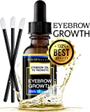 Premium Eyebrow Growth Serum. Advanced Natural Eyebrow Growth Enhancer Oil With Vitamin E