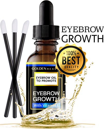 New Premium Eyebrow Growth Serum. Advanced Natural Eyebrow Growth Enhancer Oil With Vitamin E. Made in USA (Fragrance Free) (City Rapid Va)
