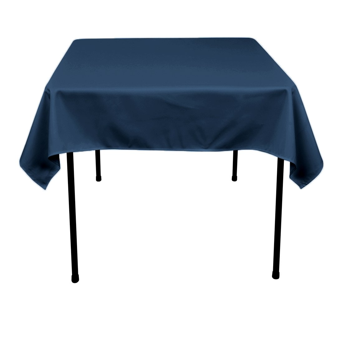 Amazon.com: LinenTablecloth 54 Inch Square Polyester Tablecloth Navy Blue:  Home U0026 Kitchen