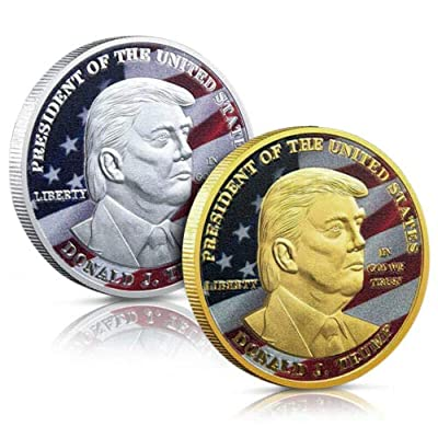 Trump Coin Donald Trump Commemorative Coin- Collectible Coin of 45th United States President-Collectibles Challenge Memorabilia Gift (AB): Toys & Games