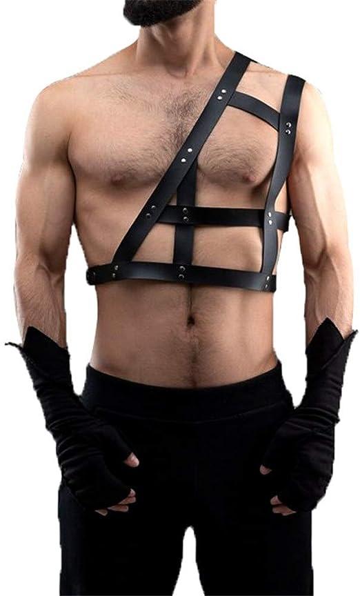 Arnés sujetador Cinturón de cuero de un solo hombro for el cuerpo ...