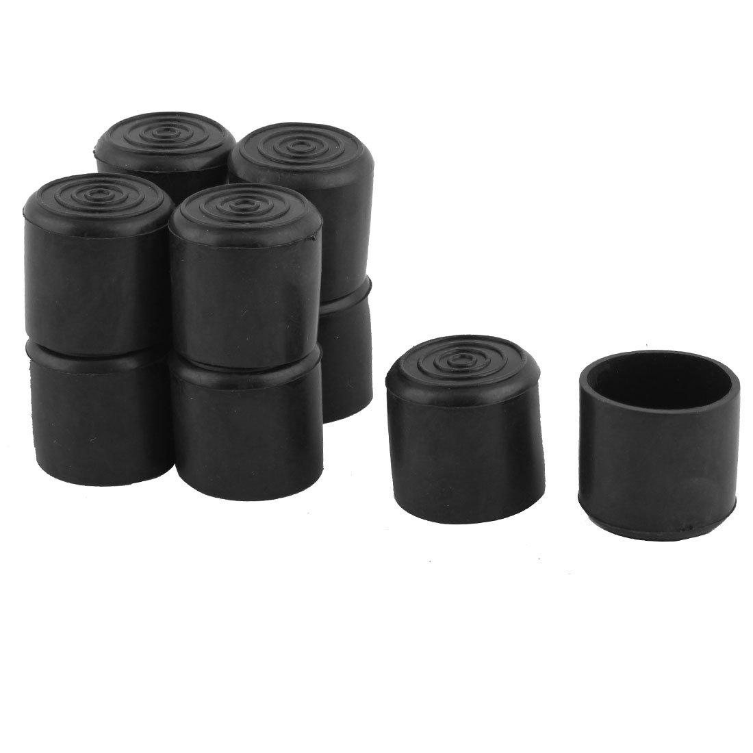 Sourcingmap/® Ameublement Chaise Table Ronde Jambe Tube PVC Pied Noir Couvre 25mm diam/ètre int/érieur 10 PCS