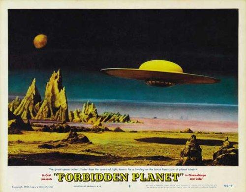 Forbidden Planet POSTER Movie (1956) Style F 11 x 14 Inches - 28cm x 36cm (Walter Pidgeon)(Anne Francis)(Leslie Nielsen)(Warren Stevens)(Jack Kelly)(Richard Anderson)(Earl Holliman)