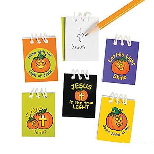 Christian Pumpkin Mini Notepads 48 Pack ()