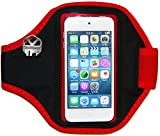 iPod Touch 6G MP3 Player Armband Case With Key Holder (Red)