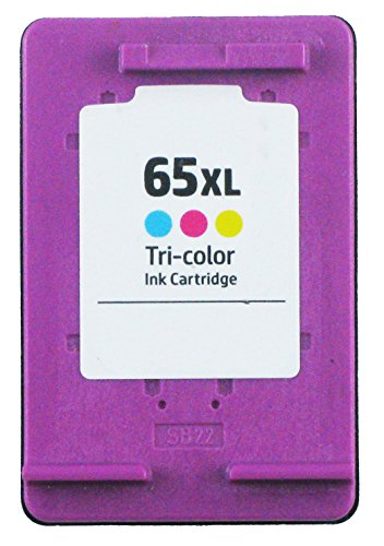 OCProducts Refilled HP 65 65XL Ink Cartridge Replacement for HP Deskjet 3720 3755 3730 3752 3732 3758 2652 2655 Printers (1 Color) -  Printronic Corp, OCP-HP65XLC