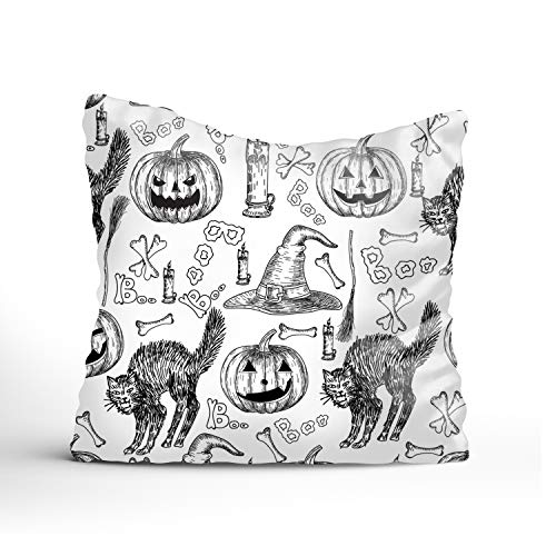 Dolores Joule Halloween Holiday Square Pillowcase Pillow Cover 20x20 for Couch,Cushion Case (one Sides Printing)