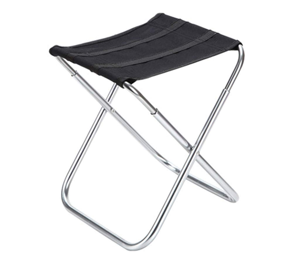YANGYA Portable Folding Stool Outdoor Foldable Small Lightweight Camp Aluminium Alloy Stools Seat for Camping Fishing Picnic BBQ Travel and Hiking-White by YANGYA