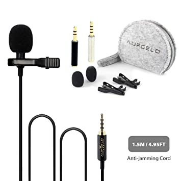 Professional Best Small Lavalier Lapel Microphone for Apple Mac Macbook iPhone iPad iPod Android Samsung Windows
