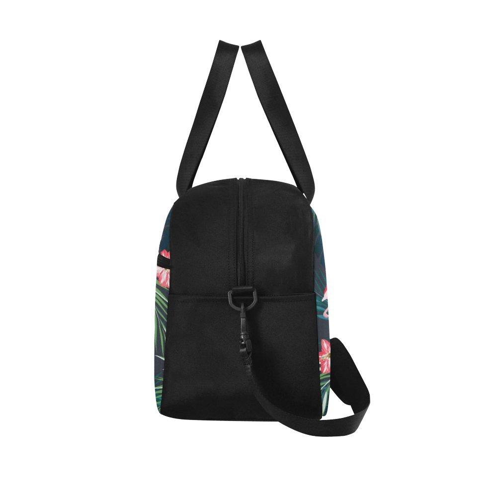 Unique Design Duffel Bag Flamingo Birds And Jungle Flowers Travel Tote Bag Handbag Crossbody Luggage
